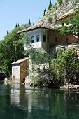 pic of sufi  - The historic Blagaj sufi monestary located at Vrelo Bune outside the village of Blagaj in the Herzegovina - JPG