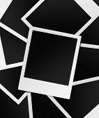instant photo frame stack