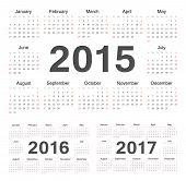 Vecto Rcircle Calendars 2015, 2016, 2017