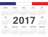 Vecto French Rcircle Calendar 2017