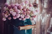 Milk Can, And A Bouquet