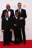 LOS ANGELES - AUG 25:  Paris Barclay, family at the 2014 Primetime Emmy Awards - Arrivals at Nokia at LA Live on August 25, 2014 in Los Angeles, CA