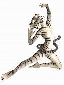 Постер, плакат: Симпатичные Toon фигура белый тигр