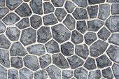 Gray Mosaic Stone Wall Background