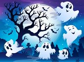 Spooky tree theme image 5 - eps10 vector illustration.