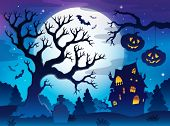 Spooky tree theme image 8 - eps10 vector illustration.