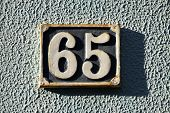 House Number On A Wall