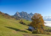 Autumn (indian summer) in swiss alps