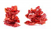 Sun dried tomatoes isolated on white