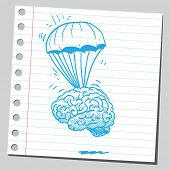 Brain parachuting