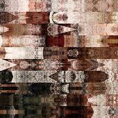 art abstract colorful graphic background; geometric border stylized pattern in brown and white color