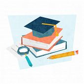 Education Concept Vector Icons. Flat Style Vector Illustration.