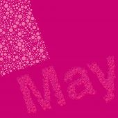 Abstract Dotted Text - Months: May