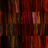 art abstract colorful chaotic waves seamless pattern in Klimt style; background in red, brown and bl