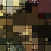 art abstract colorful geometric pattern; background in  black, brown and green colors