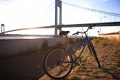 Bicycle close to The Verrazano-Narrows Bridge