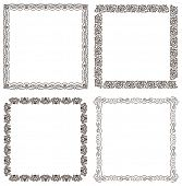 Vector frames set. Ornate and vintage design elements
