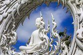 Wat Rong Khun, Sitting Buddha.
