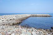 Breakwater concrete dam