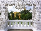 Wat Rong Khun, Architectural Details Of Entrance.
