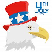 Set Of Vector American Independence Day Background Templates Editable