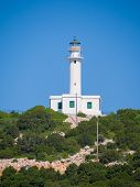Cape lighthouse of Lefkas island in Greece