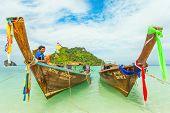 Long tail boat at Krabi's tup island