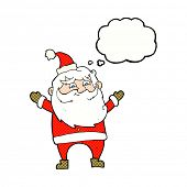 cartoon happy santa