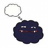 cartoon vampire cloud with thought bubble