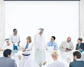 Business People Corporate Meeting Presentation Corporate Diversity Concept