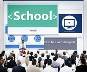 Business People School Web Design Concept