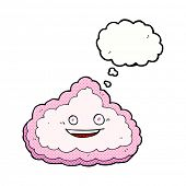cartoon happy cloud