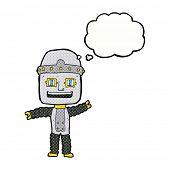 cartoon robot with idea