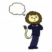 cartoon business lion