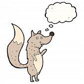 cartoon happy wolf