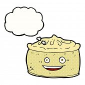cartoon pie with thought bubble