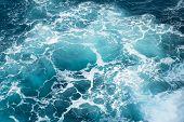 Deep Blue Ocean Water In Buracona In Sal Island In Cape Verde