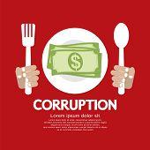 Corruption Vector Illustration.