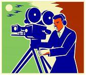 Cameraman-moviemaker-vintage