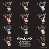 Celebrate Americas Vector Illustration.