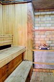 interior of the sauna