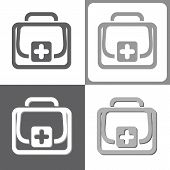First Aid Kit, Vector Illustration