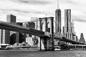 Black And White New York Skyline