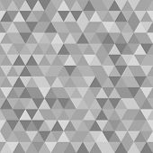 Geometric Seamless Vector Abstract Pattern with Gray Triangles