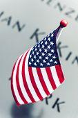 Usa Flag At World Trade Center