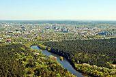 Vilnius City Capital Of Lithuania Aerial View