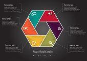 Infographic Scribble Hexagon