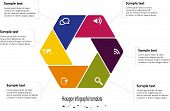 Infographic Illustration With Hexagon