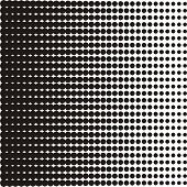pic of octagon shape  - Vector halftone texture black dots on white background - JPG
