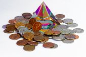 Feng Shui pyramid and coins